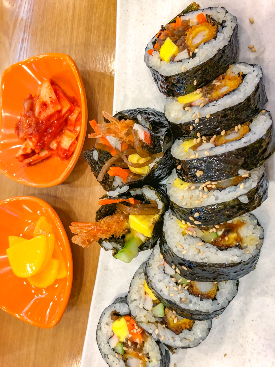 Eten in Seoul: gimbap (of kimbap)