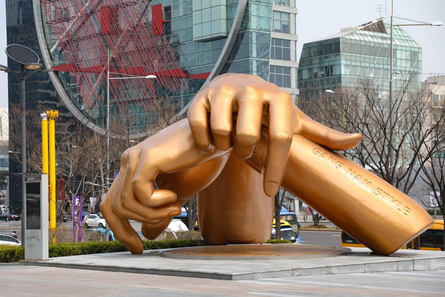 Gangnam Style sculptuur
